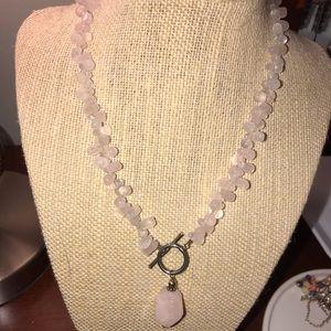 Silpada pink crystal silver  choker necklace